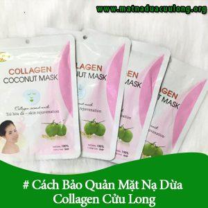 Cách Bảo Quản Mặt Nạ Dừa Collagen Cửu Long