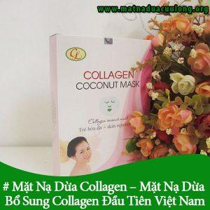 Mặt Nạ Dừa Collagen Cửu Long-Mặt Nạ Dừa Có Bổ Sung Thêm Collagen